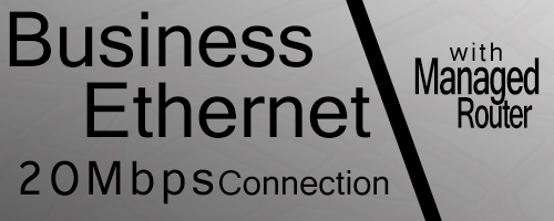 20Mbps Business Ethernet Connection Router