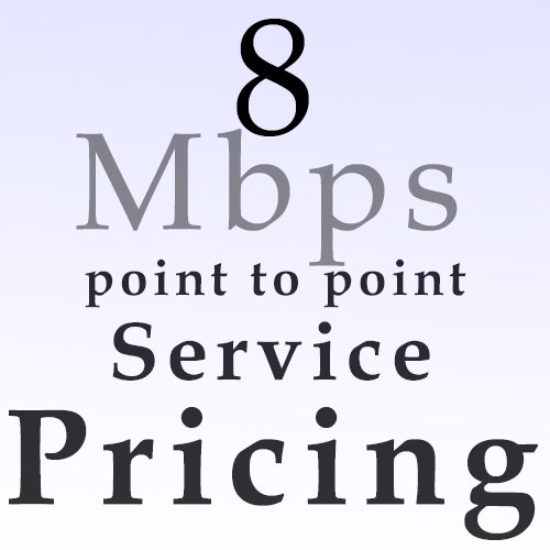 8 Mbps point to point pricing
